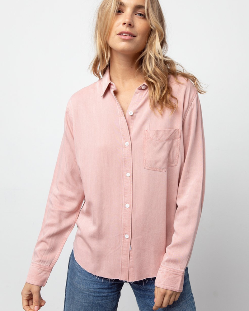 Ingrid Raw Button Down Top