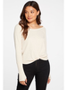 Chaser Thumbhole cuff Knit Top