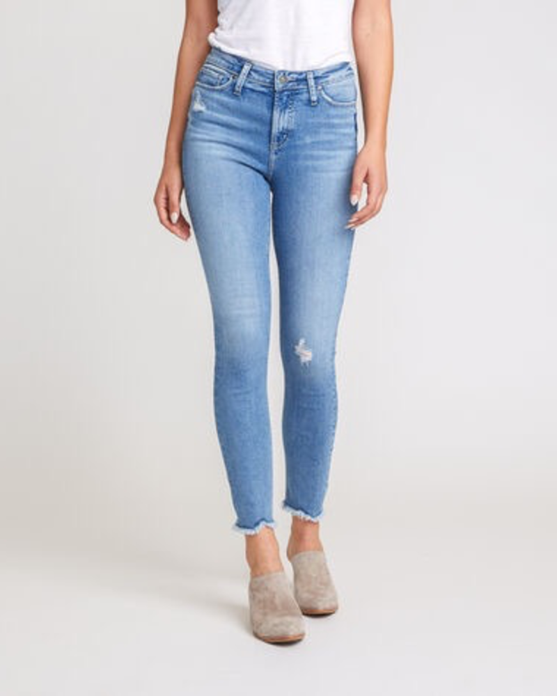 Silver High Note Ankle Skinny