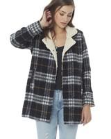 Saltwater Luxe Saltwater Luxe Sherpa Collar Coat