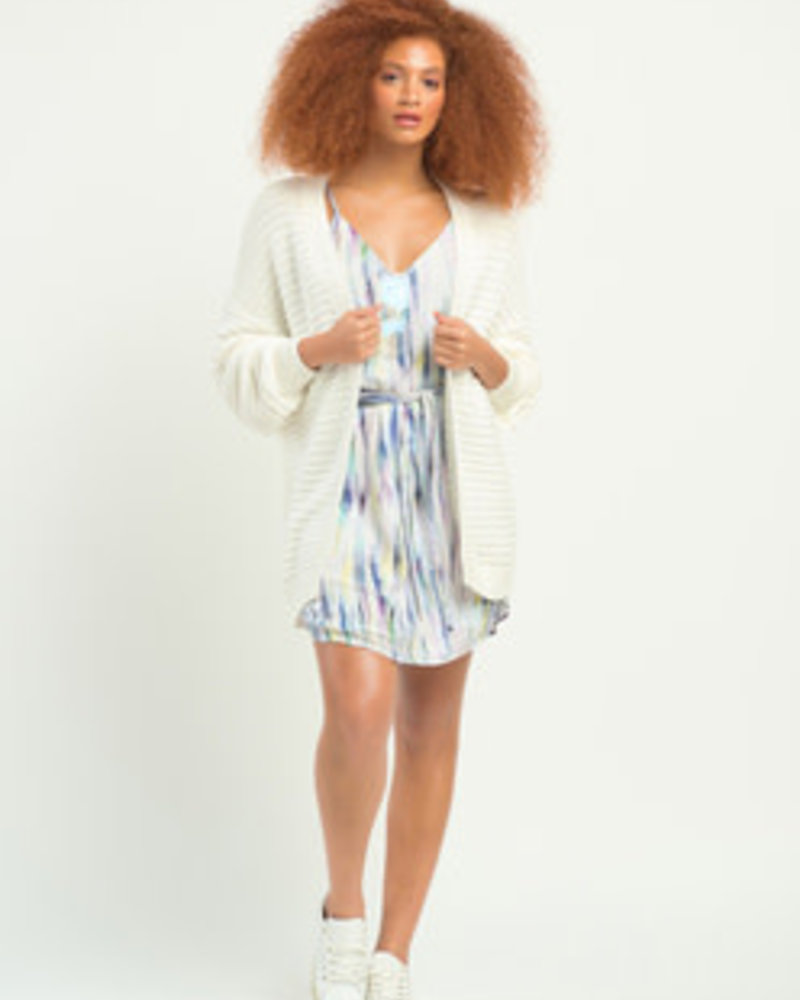 Dex Dex Textured Stitch Cardigan