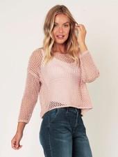 Suzy D Suzy D Luna Open Knit Sweater