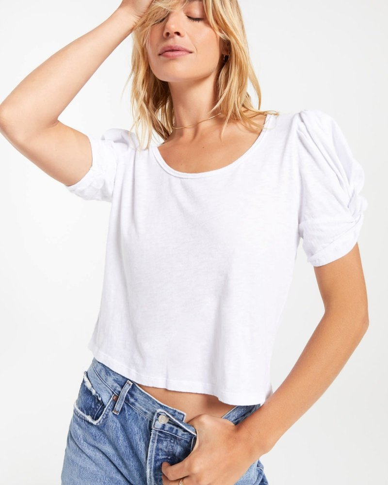 Z Supply Z Supply Carrie Slub Puff Sleeve Tee