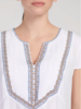 Tribal Tribal Cap Sleeve Embroidered Blouse