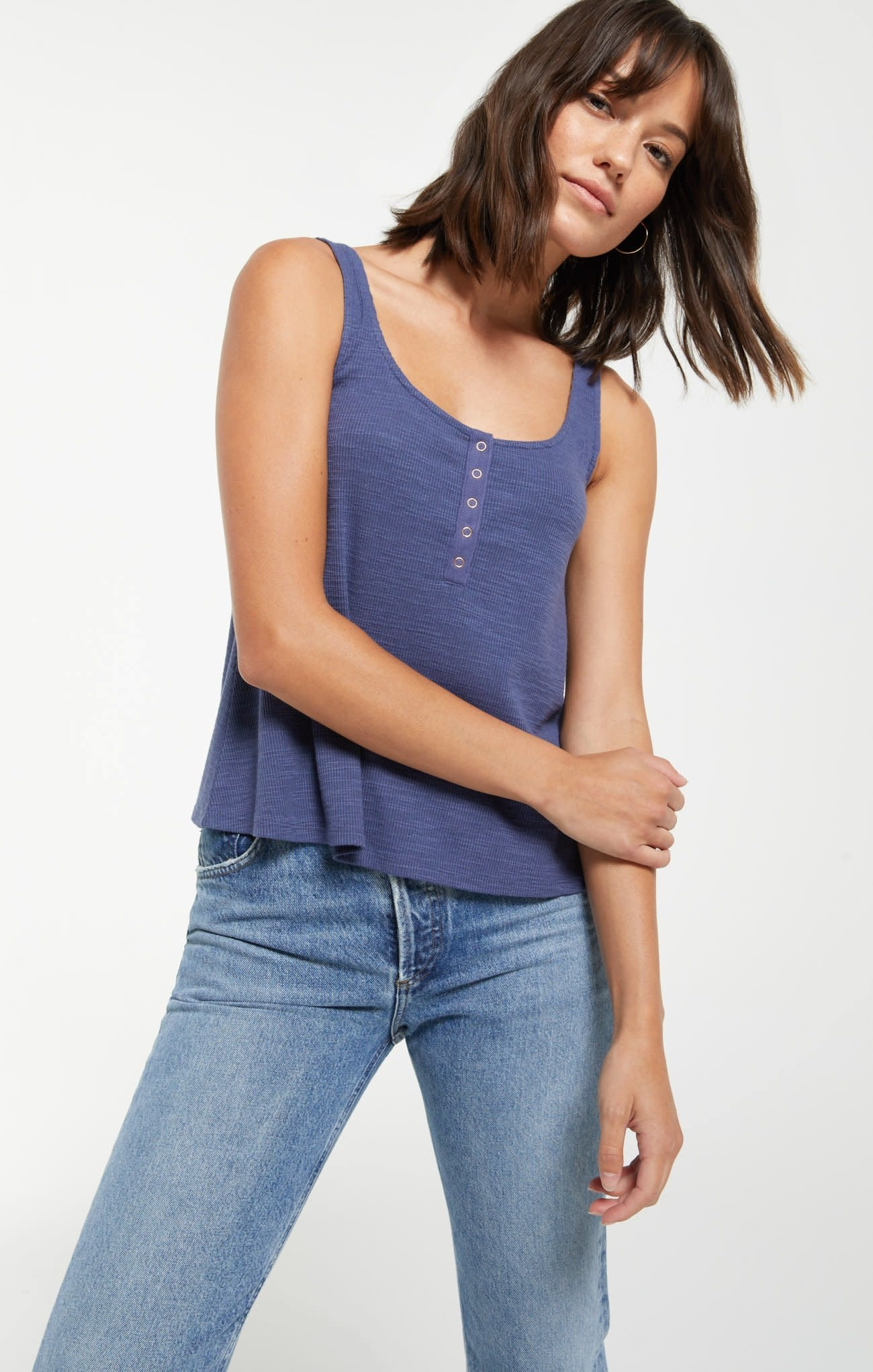 Details about  /Z Supply The Hearts Henley Tank Top