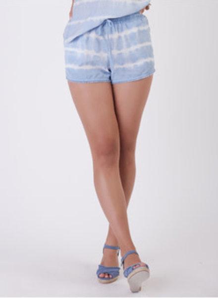 Dex Dex Frayed Hem Tie Dye Shorts