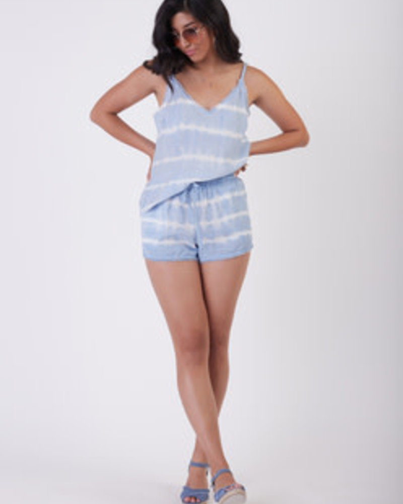 Dex Dex Frayed Hem Tie Dye Shorts