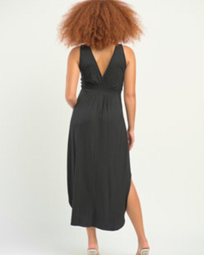 Dex Dex Surplice High Low Dress