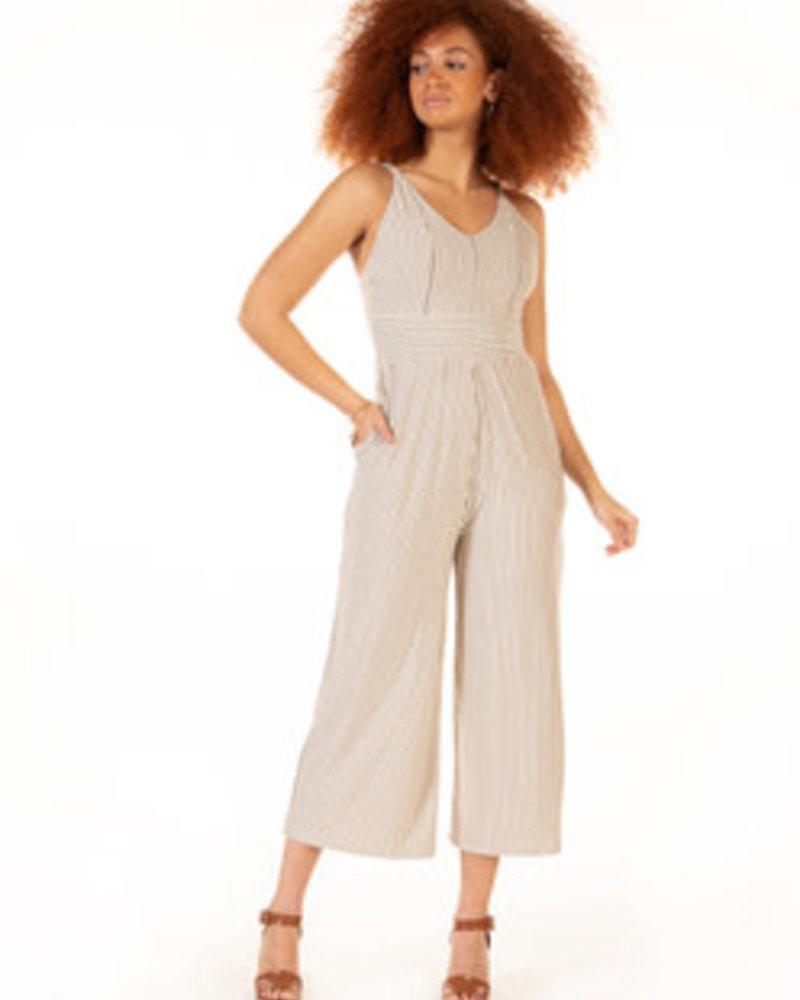 Dex Dex Panelled Wide Leg Jumpsuit