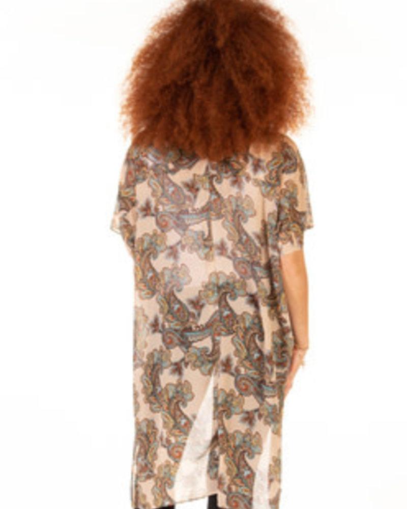 Dex Dex Printed Chiffon Kimono