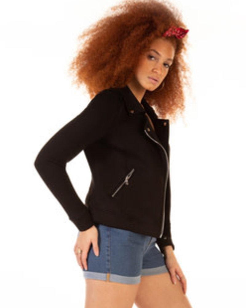 Dex Dex Stretch Knit Moto Jacket