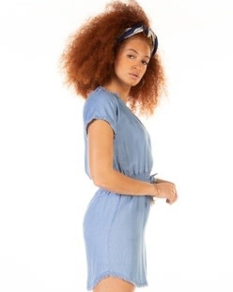 Dex Dex Frayed Hem Dress