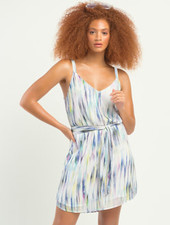 Dex Dex Printed Belted Dress