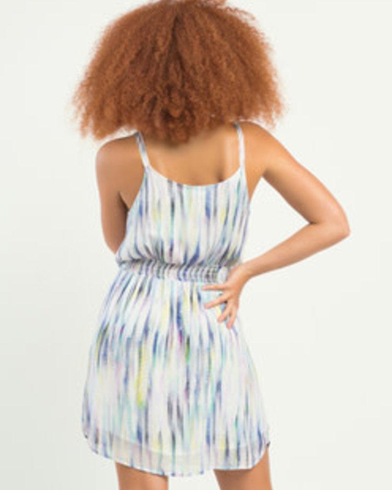 Dex Dex Printed Belted Dress