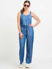 Black Tape Drawstring Jumpsuit