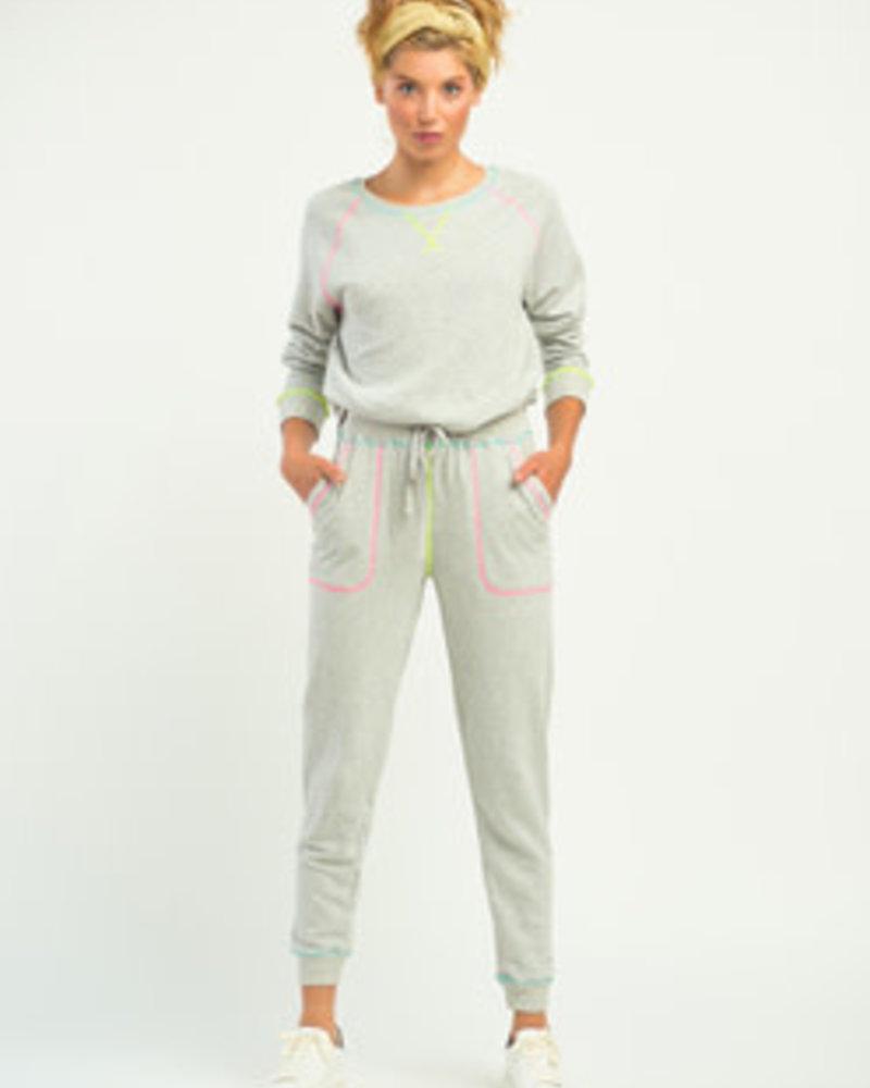 Dex Dex Contrast Neon Stitch Jogger