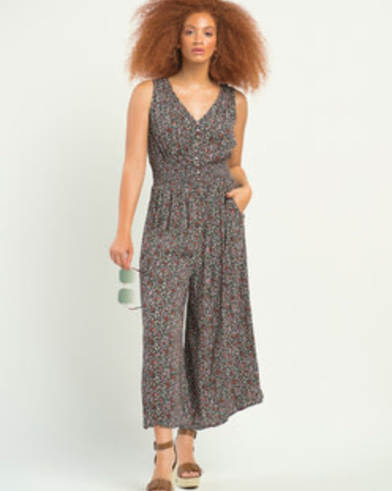 Dex Dex Smocked Waist Jumpsuit