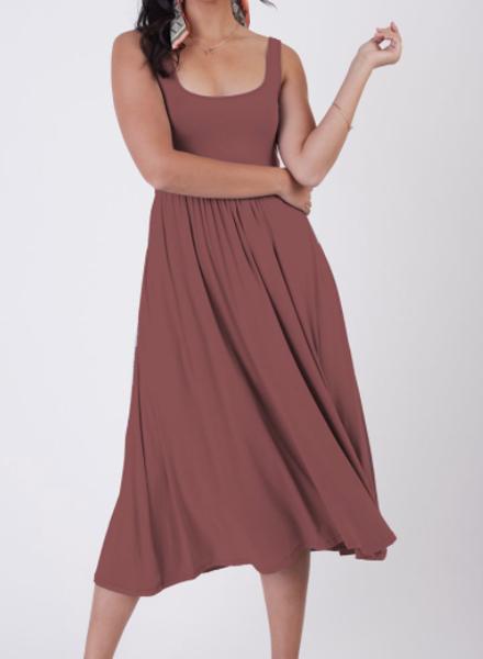 Dex Dex Banded Waist Knit Dress