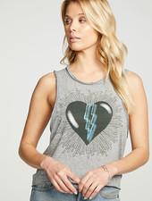 Chaser Chaser Heart Print Tank