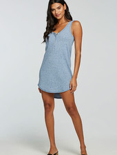 Chaser Chaser Double Scoop Henley Dress