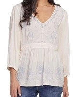 Tribal Tribal Embroidered Blouse