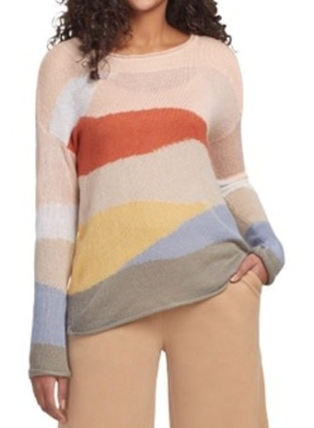 Tribal Tribal  Intarsia Sweater