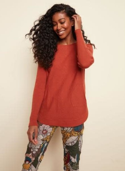 Charlie B Back Lace-Up Detail Sweater