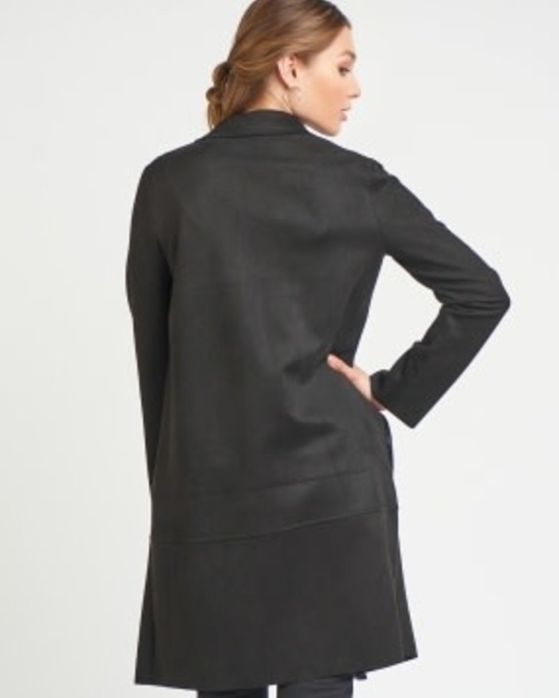 Black Tape Black Tape Midi Faux Suede Jacket