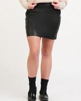 Black Tape Dex Faux Leather Mini Skirt