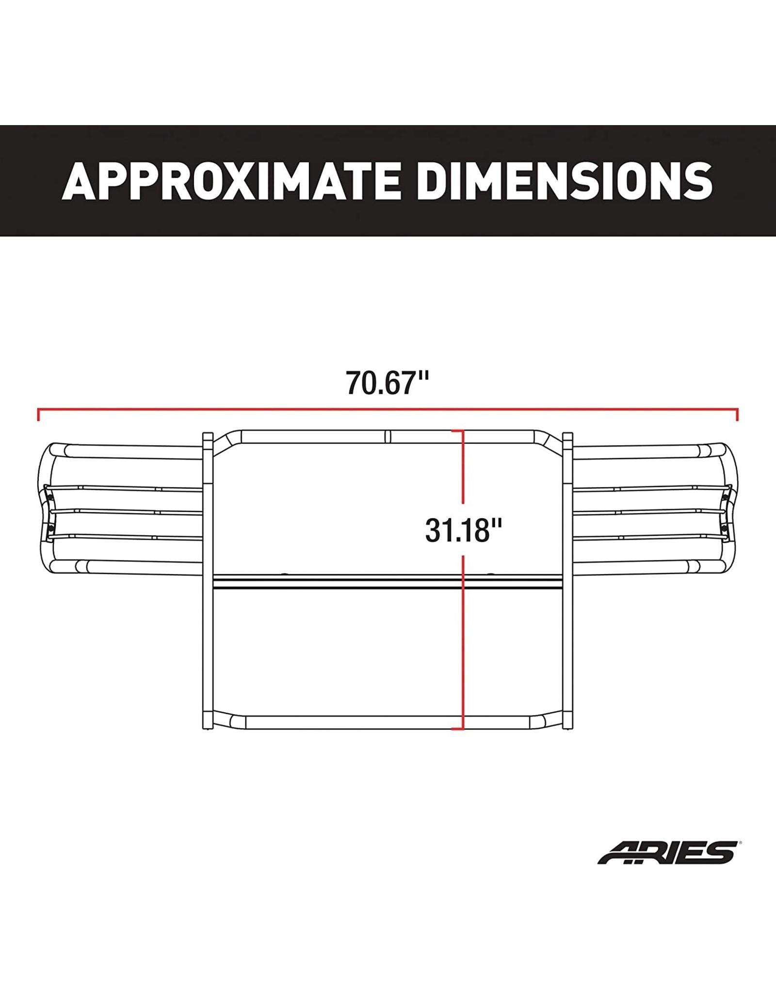 ARIES ARIES 2058 Black Steel Grille Guard, Toyota 4Runner