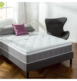 Zinus Zinus 12 Inch Support Plus Pocket Spring Hybrid Mattress with Euro Top / Extra Firm Feel / More Coils for Durable Support / Pocket Innersprings for Motion Isolation / Bed-in-a-Box, Full