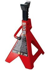 BIG RED BIG RED T41202 Torin Steel Jack Stands: 12 Ton (24,000 lb) Capacity, Red, 1 Pair