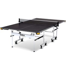JOOLA JOOLA Rally TL - Professional MDF Indoor Table Tennis Table w/ Quick Clamp Ping Pong Net & Post Set - 10 Minute Easy Assembly - Corner Ball Holders - USATT Approved - Ping Pong Table w/ Playback Mode