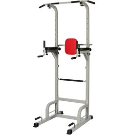 Everyday Essentials Everyday Essentials Power Tower with Push-up, Pull-up and Workout Dip Station for Home Gym Strength Training, Gray