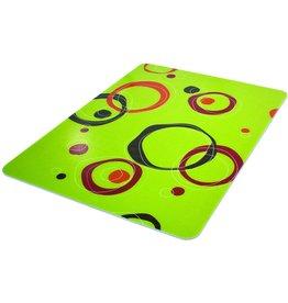 Deflecto Deflecto RollaMat Decorative Chair Mat, Medium Pile Carpet Use, Rectangle, Straight Edge, 46 x 60 Inches, Circle Lime Print (CM15442FCCL)