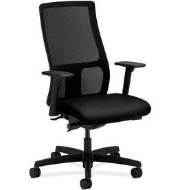 HON HON Ignition Series Mid-Back Work Chair - Mesh Computer Chair for Office Desk, Black (HIWM2)