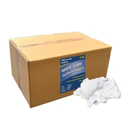 Pro-Clean Basics Pro-Clean Basics - A99202 White Terry Cloth Rags: 50 lb. Box