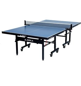 JOOLA JOOLA Inside - Professional MDF Indoor Table Tennis Table with Quick Clamp Ping Pong Net and Post Set - 10 Minute Easy Assembly - USATT Approved - Ping Pong Table with Single Player Playback Mode