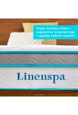 Linenspa Linenspa 12 Inch Memory Hybrid Plush-Individually Encased Coils-Edge Support-Quilted Foam Cover Mattress, California King, White