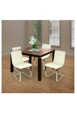 """Christopher Knight Christopher Knight Home Marlon Modern Leather 28.25"""" Chairs, 2-Pcs Set, Grey / Chrome"""