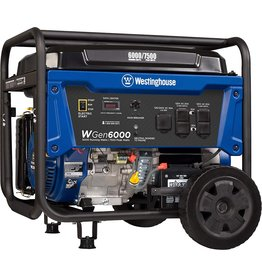Westinghouse Westinghouse WGen6000 Portable Generator 6000 Rated & 7500 Peak Watts, Gas Powered, Electric Start, Transfer Switch Ready, CARB Compliant