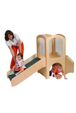 Children's Factory Children's Factory Angeles Toddler Loft Set, Kids Indoor Play Equipment, Sliding/Climbing/Crawling Toys for Preschool/Daycare/Playroom, Wooden Classroom Furniture