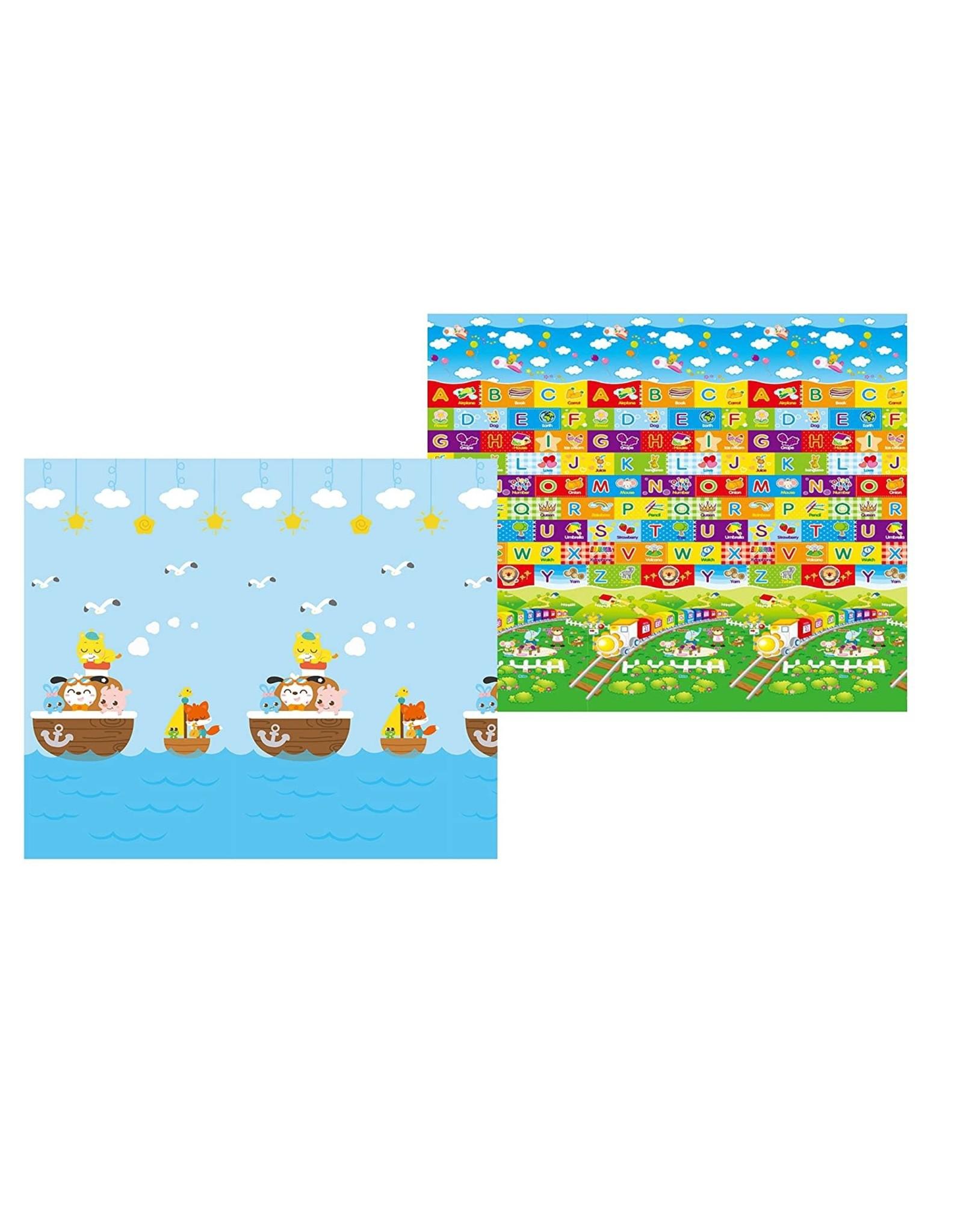 MyLine MyLine Eco Baby Play mat (Super Large, 78.7''x70.9''x3/5'') (Noah's Ark/Train ABC)