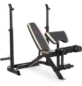 Marcy Marcy Adjustable Olympic Weight Bench with Leg Developer and Squat Rack MD-879