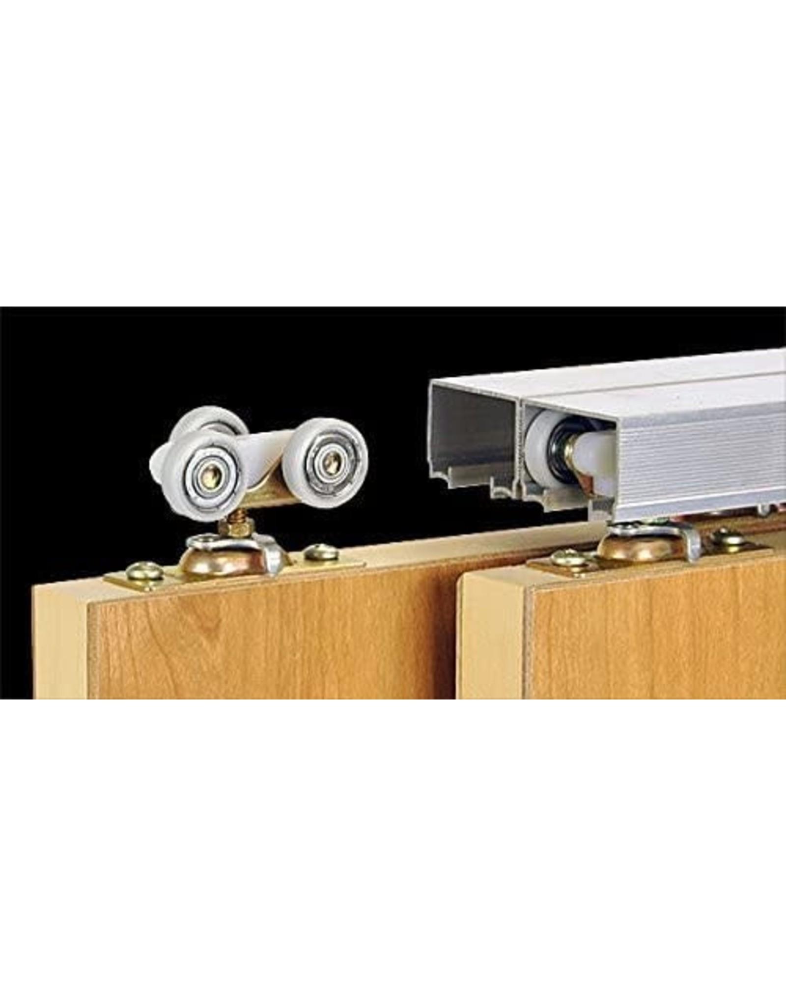 Johnson Hardware 100SD Sliding Bypass Door Hardware (96 In. Length 2 Door System)