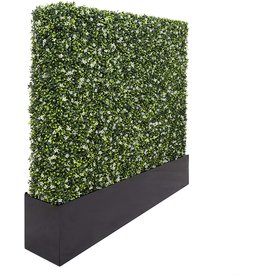 """SunnyRoyal SunnyRoyal 41"""" L x 62"""" H x 8.6"""" DArtificial Boxwood Hedge Wall Planter Faux Hedge Privacy Fence Planter Box for Indoor Outdoor Decore, Stainless Steel Planter Box Sell Separately"""