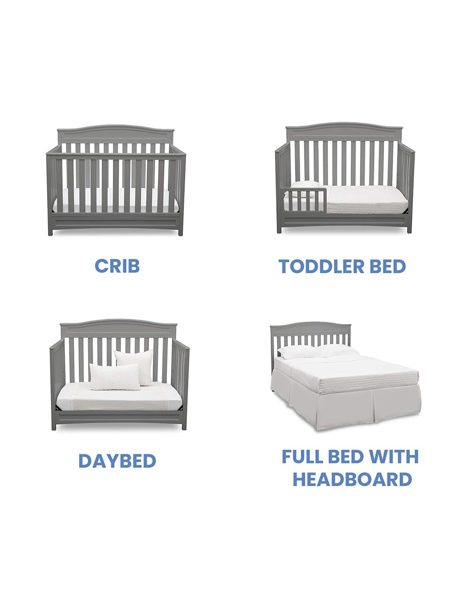 Delta Children Delta Children Emery 4-in-1 Convertible Baby Crib, Grey