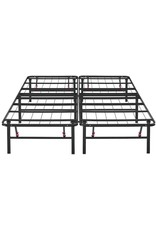 """Amazon Foldable, 14"""" Metal Platform Bed Frame with Tool-Free Assembly, No Box Spring Needed - King"""