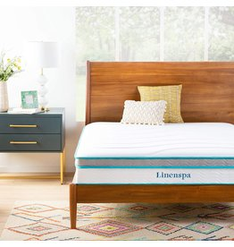 Linenspa Linenspa 10 Inch Memory Foam and Innerspring Hybrid Medium Feel-King, 10-Inch Mattress, White