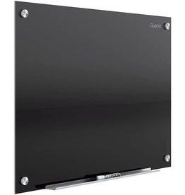 Quartet Quartet Glass Whiteboard, Magnetic Dry Erase White Board, 8' x 4', Black Surface, Infinity (G9648B)